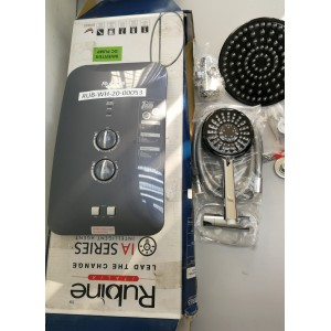 [DISPLAY UNIT] Rubine RWH-IA951D-RMG Rain-shower Water Heater with DC Pump (Grey) RUB-WH-20-00053