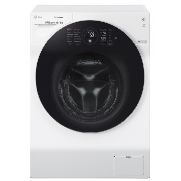 LG 12KG / 8KG Steam Washer Dryer (Inverter) FG1612H2W