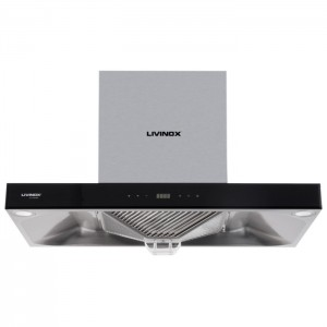 LIVINOX STAINLESS STEEL AND TEMPERED GLASS FINISHING COOKER HOOD